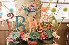 DIY Fairytale Tea Parties - This Alice in Wonderland Tea Party Displays Handmade Arts and Crafts