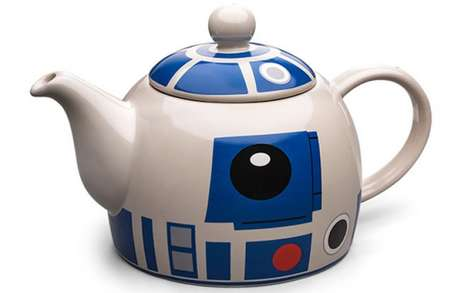 Geeky Droid Teapots - The R2-D2 Ceramic Teapot is Inspired by the Legendary Star Wars Robot