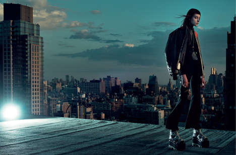 Urban Goth Editorials - Numéro China's Gravity Issue Highlights a Dark and Dramatic Wardrobe