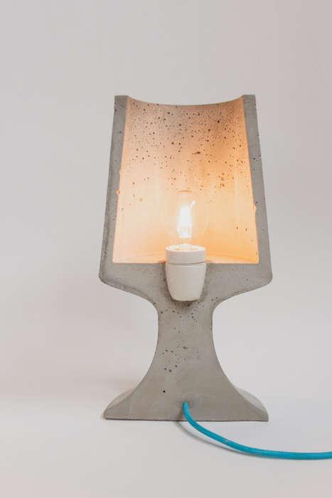 Sliced Concrete Lamps