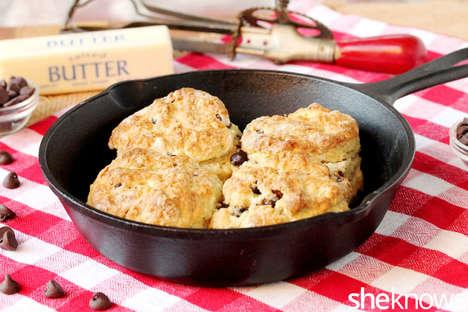 Chocolate Spread Skillet Cookies