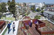 Communal Rooftop Spaces - This Student and Faculty Housing Features a Social Rooftop Area