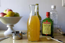 Apple Cider Sangrias - This Homemade Autumnal Alcoholic Punch is Filled with Sliced Apples