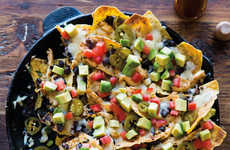 Mexican Taco Nachos - These Chicken Tostadas Recipe Deconstructs the Meal with the Use of Chips