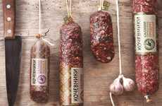 Halal Smoked Meat Branding - This Russian Deli Boasts Packaging That Reflects Culinary Tradition