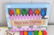 Fantasy Character Crayons - These Shaped Crayons Take the Form of Royals, Wizards and More
