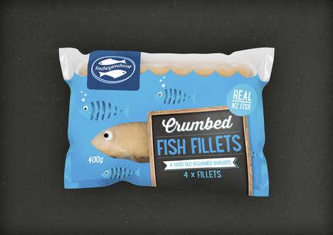 Vibrant Fish Burger Packaging