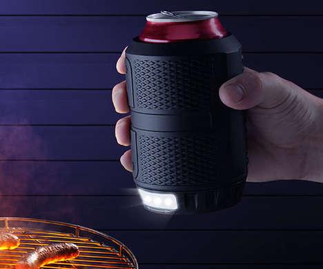 Flashlight Beer Holders