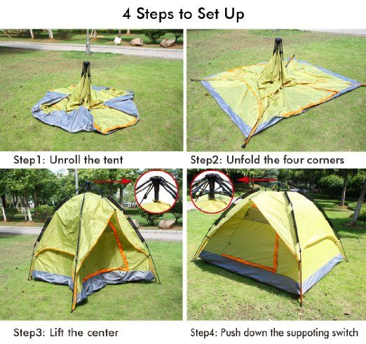 Ohuhu 3 Backpacking Tents Person Tent