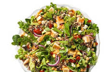Protein Fast Food Salads - Wendy's Mediterranean Salad is Abundantly Rich in Protein