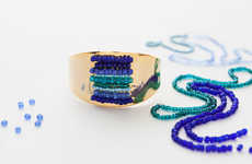 DIY Bracelet Kits - These Elegant Homemade Beaded Cuffs Incorporate Color and Craftmanship