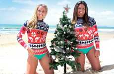 Holiday Outback Sweaters - These Australian Christmas Jumpers Feature Holiday Kangaroos & Snowflakes