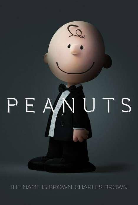 Cartoon Spy Mashups - These Cartoon James Bond Characters Fuse the Peanuts Crew & 007