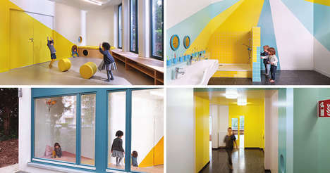 The 'Kita Zauberzwerge' Daycare Has Cylindrical Cubby Holes for Storage