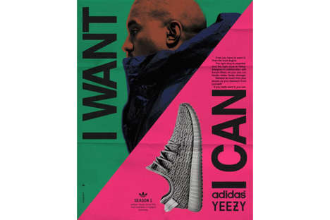 Vintage Rapper Sneaker Ads - These Refashioned Vintage adidas Ads Include Kanye West