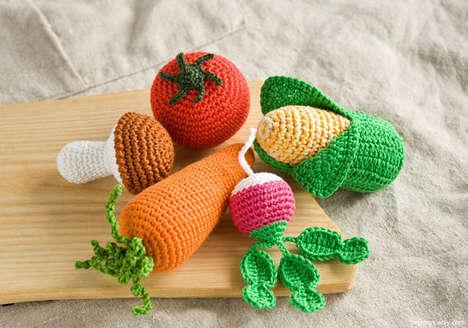 Crocheted Vegetable Toys