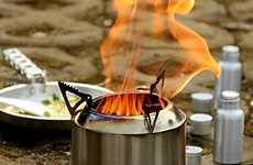 Compact Picnic BBQs - The Ohuhu Camping Stove Can be Used with Multiple Kinds of Fuel