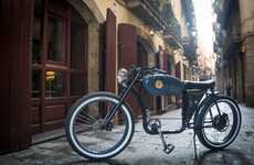 Retro Eco Electric Bikes - The OtoCycles RaceR Recycled Bicycle Features Salvaged Materials