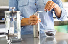 Retro Coffee Grinders - The Ceramic Burr Manual Coffee Grinder Provides Perfect Results Every Time