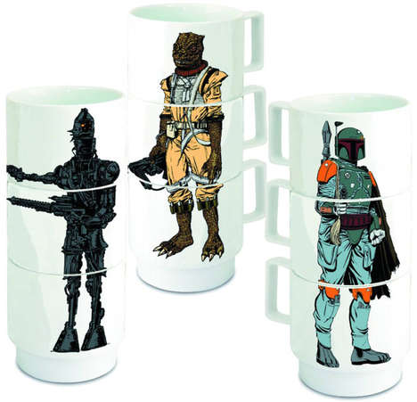 Stacking Sci-Fi Mugs