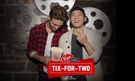 Cinematic Mobile Rewards - Virgin Mobile's Member Benefits Include Movie Tickets for Two