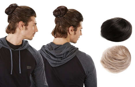 Clip-In Man Buns - These Hair Extensions for Men Help Shorter-Haired Guys Get the Man Bun Hairstyle