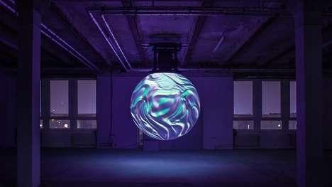 Luminescent Orb Sculptures