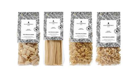 Italian Heritage Pasta Branding - This Firenze Pasta Brand's Packaging is Inspired by Tuscany