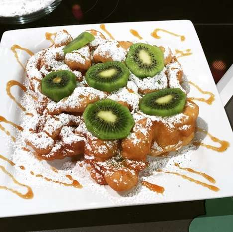 Artisanal Funnel Cake Menus - FunnelDelicious Offers Indulgent and Healthy Dessert Options