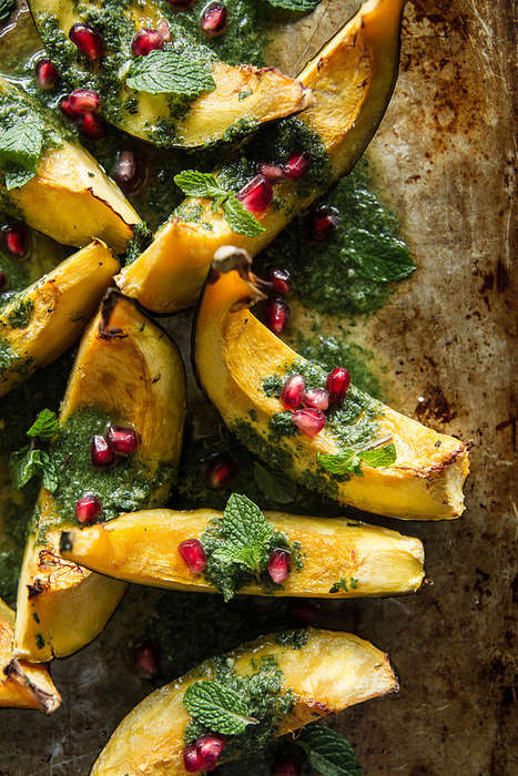 Pesto Squash Wedges