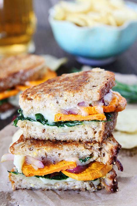 Autumnal Grilled Cheese Sandwiches