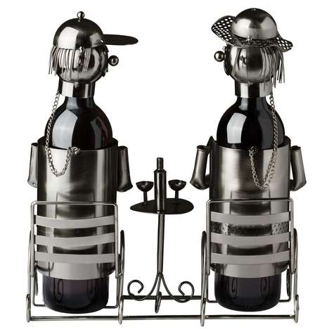 Scenic Wine Bottle Holders - This Bottle Holder Doubles as a Decorative, Whimsical Sculptural Scene
