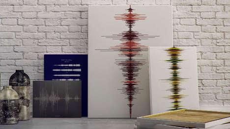 Custom Sound Wave Keepsakes