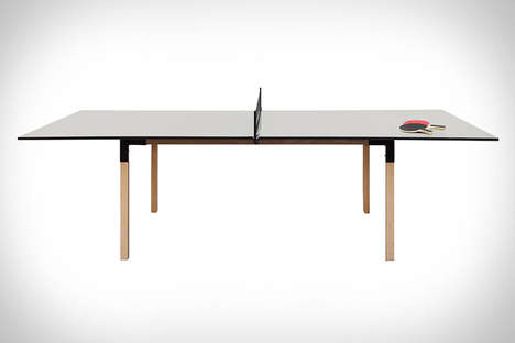 Convertible Gaming Tables - This Multi-Purpose Table Works as Both a Dining and Ping Pong Table