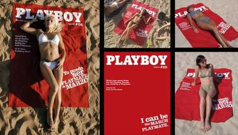 Magazine Cover Beach Towel - New Playboy Ad Campaign