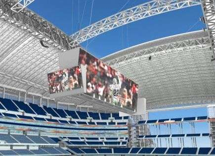 20,000 Square Foot Video Screen - Dallas Cowboys Stadium