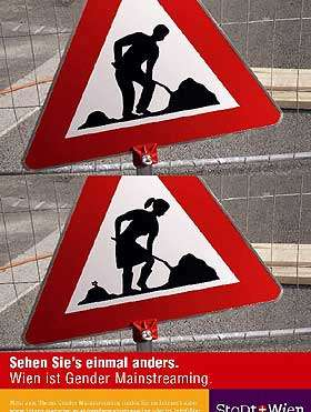 Equal Gender Traffic Signs