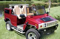 Golf Cars are the New Golf Carts - Hummer in the Field