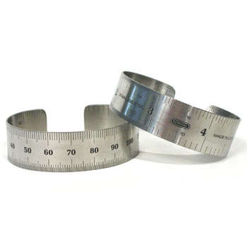 "3/4"" Ruler Bracelet - Measure a Man by the Size of His..Wrist."