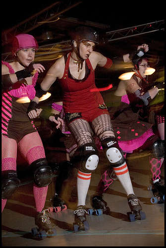 Roller Derby - Where Else Can You Wear Makeup + A Skirt And Kick The Crap Out Of People?