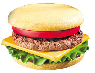 American Burger Coaster Set