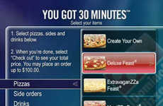 Ordering Pizza via TV