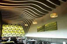 Hill and Valley Inspired Ceilings - Rosso Restaurant Decor