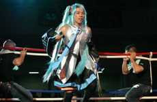 Cosplay Kickboxing - Nagashima's Cartoon Fighter Suit