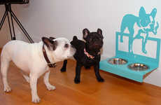 Wall-Mounted Pet Feeders