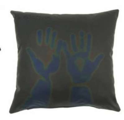 Heat-Sensitive Cushions - The Interactive 'Please Touch' Pillow