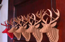 Cardboard Taxidermy - PETA-Friendly Trophy Heads
