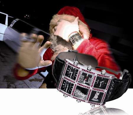 Fictitious Jewelry Endorsements - Santa Claus Recommends Icelink Watches