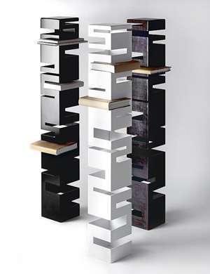 Maze-Like Furniture - Rick Ivey Ontario's Steel Bookshelf