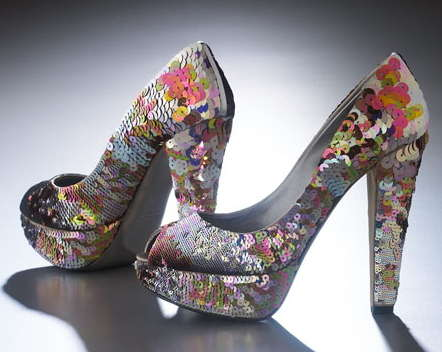 Kaleidoscopic Footwear